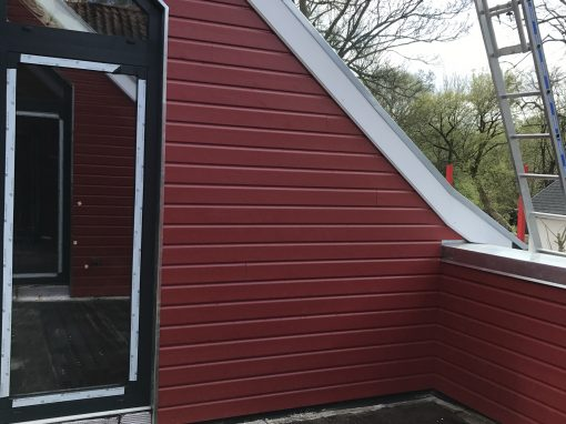 Création d'une terrasse dans la toiture existante